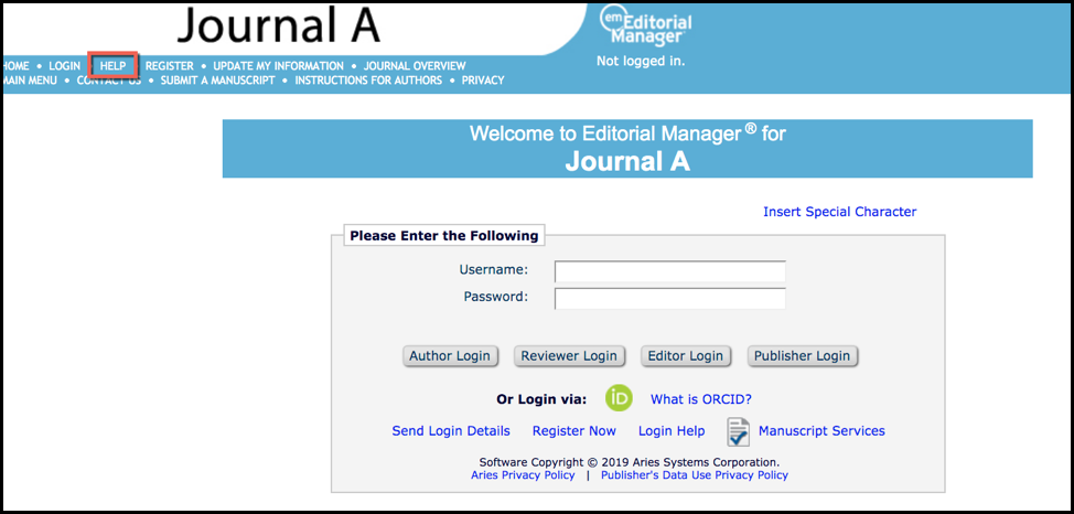 Using System Help In Editorial Manager Aries Systems Corporation